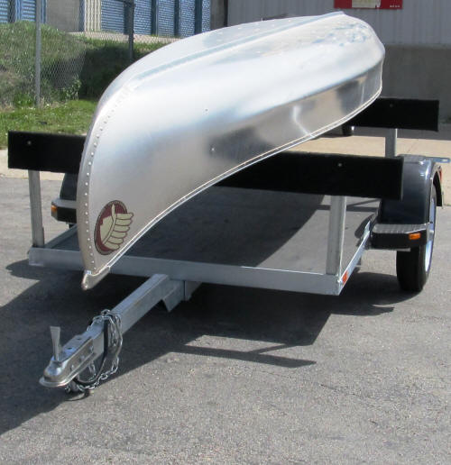 Versa Trailer Even Carries 18 Ft Osage Square Stern Canoes